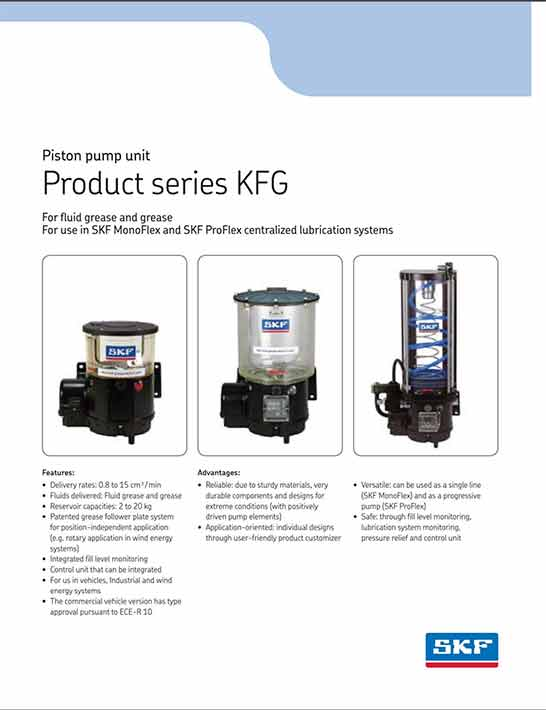 Lube Piston Pump Kfg Skf Michigan