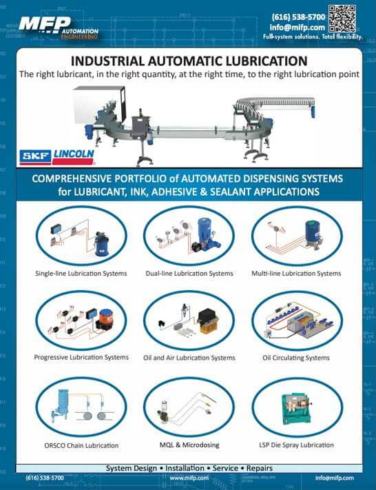 Mfp Lubrication Dispensing Systems Michigan Automation